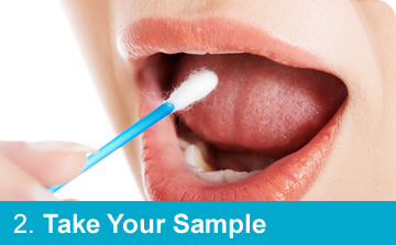 Step 2: Take Your Sample for DNA Testing